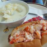 Chowder and Lobster roll