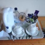 kettle and extras in room