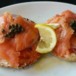 Bagel and salmon