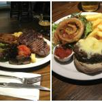 dinner in the pub