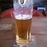 That Lovely Pint of Foster's i had in The Bridge End Hotel,Llangollen.