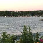 View of Egg Harbor marina from Lodges grounds.