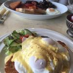All day breakfast. Eggs benedict and a full English. Lovely!