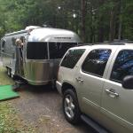 Peaceful overnight in the Catskills in our Airstream!