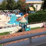 View of splash pool from other side of balcony