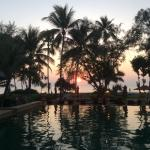 Beach Sunset View, at the edge of the infinity pool