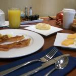 Breakfast items from the Buffet Bar
