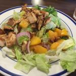 summer peach chicken salad