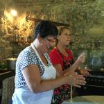 Cooking lesson in the mill.