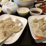 Boiled chive and shrimp dumplings-tender and no greasy unlike typical fried potstickers