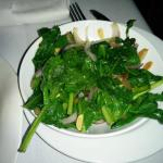 sauteed spinach with sultanas and almonds