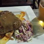 Steak slaw and chips and a spirit based drink for $10