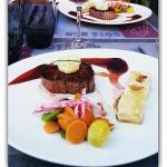 Plat menu gourmand