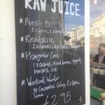 Raw juice board