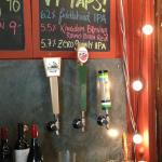 Three local beers on tap (always something new)