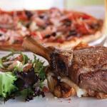 juicy steak & Pizza at Embers