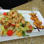 Chicken Salad with side of Balsamic Peaches
