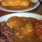 huevos rancheros and breakfast burrito from El Matador