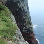 知夫赤壁の反対側の岩
