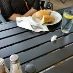 Cute outdoor seating; great sandwiches