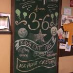 Loved the chalkboard with local info.