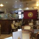 Lovely coffee and cake , very nice welcome cafe. Nice atmosphere and very relaxed place. Lots of