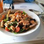 Restaurant dish - fresh chicken salad