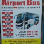 Airport Bus Schedule