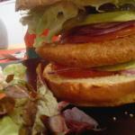 Burger Végétarien, Salade Mixte.