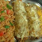 Rolled beef enchiladas combo plate