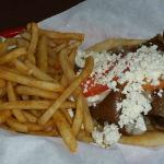 Yorgo's Gyro with fries.