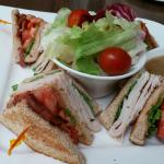 Crave Restaurant - club house sandwich