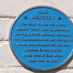 Blue Plaque Dedicated to HMS Mercury personnel