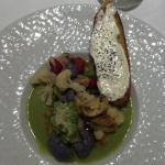 Salade froide de champignons et choux