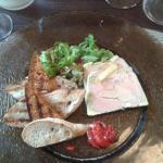 Assiette de foie gras avec son pain d'épice