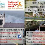 FREE entry to our geological and mining heritage exhibition on Wednesday 26 August 2015
