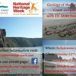 Informal talk on Geology of the Copper Coast Geopark with Dr Mike Sweeney on Saturday 22 August