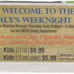 Weekly Buffet ad for Westerly
