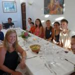 Family dinner in the Villa