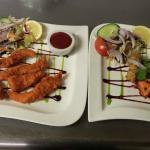Fish pakora and Everest mixed platter