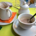 They serve amazing vegan hot chocolate at Mondo Bio Sorrento...