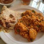 India House - shrimp biryani