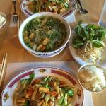 Veggie Pho Soup plus 2 Veggie Stir Fry with Tofu. Yummmm!!