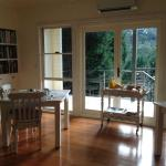 The pleasant breakfast room