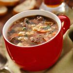 A hearty bowl of beef barley soup will hit the spot