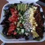 Cobb salad and mussels to go