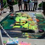 _La Grande Jatte_ in chalk