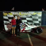 Modified winner at Wall Stadium Speedway