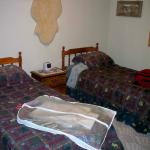 One of two bedrooms.  Other room has a queen sized bed.  There is a fold out bed in the living r