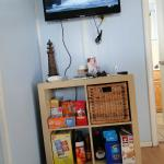 tv and snack cubby (we brought the snacks)